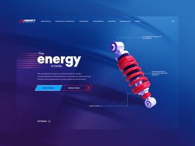Liberty Spring - 2021 Landing Page quebec auto assembly energy suspension automobile automotive auto part shock absorber spring liberty spring