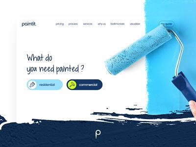 Paintit - Landing Page paint uxui painting ui paint ui paint web hero paint landing page paint web design paint website paint business painting copmany paint services painting service paint
