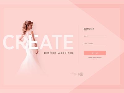 Wedding Planner Landing Page UI Concept
