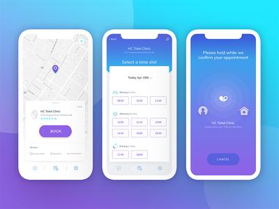Cliniklik - Healthcare Finder App Screens