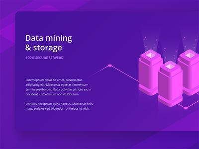 Data Storage Vecor Isometric Illustration