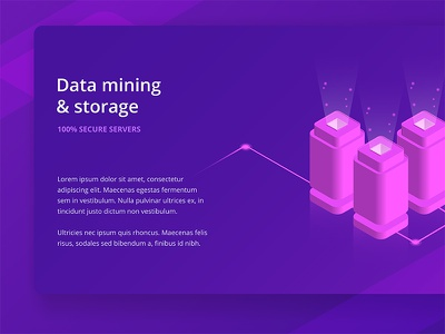 Data Storage Vecor Isometric Illustration isometric data 3d data data mining data storage data isometric vector