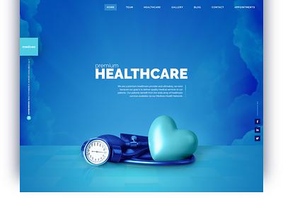 Mediveo - Medical Clinic & Hospital Services Homepage health care ui design illustration doctor nurse hospital web design hero medical clinic healthcare health