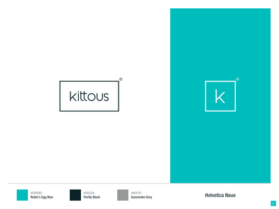 Kittous logo helvetica neue helvetica color palette kitchen  bar kitchen branding kitchen kittous logo logo design