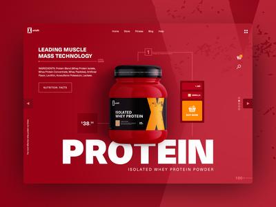 Whey Protein E-commerce UI