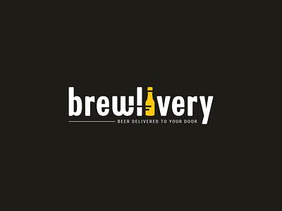 Brewlivery Logo delivery service drinks logo drinks delivery bar logo beer service bottle logo beer logo yellow logo beer to go brew delivery beer app beer delivery brewery beer