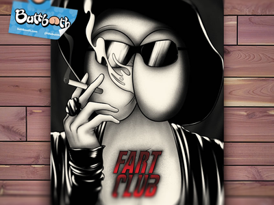 Fart Club fight club digital painting cigarette stickers film poster movie drawing texture illustration photoshop