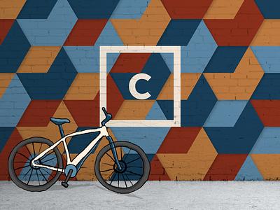 Mural design for Carbon Coffee coffeeshop coffeeshop mural logo coffee branding branding illustration mural design mural