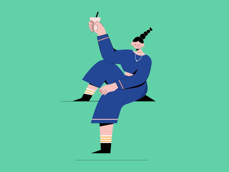 Coffee bar design 插图 illustration