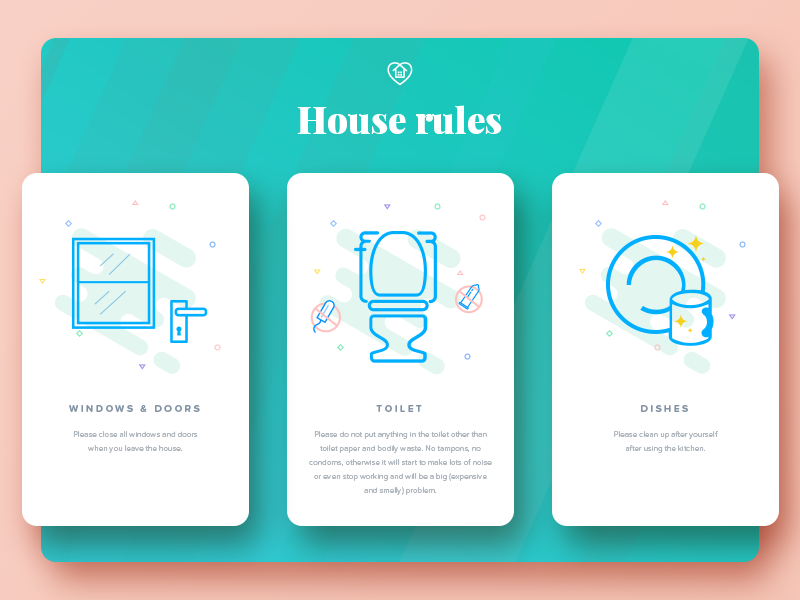 House rules by Olivia on Dribbble