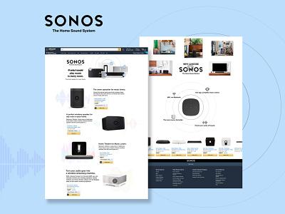 Sonos as diversity of modern music and sound amazon waves landing page design dailyui adobe design ux ui designers dribbblers dribbble speakers mordern music soundwave sonos