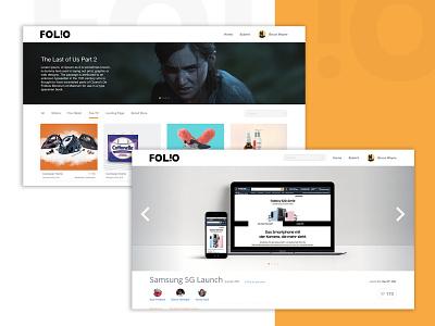 FOLIO showcase website webdesign amazon dribbblers designers ux design ux ui