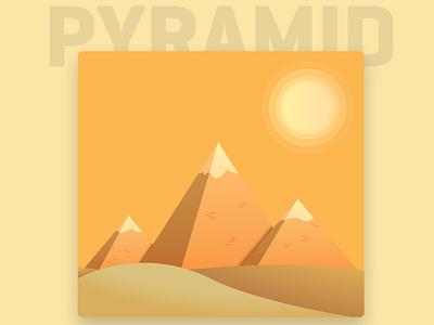 Pyramid of Giza adobe graphic design digital art art photoshop frozenwolf forest designers dribbblers dribbble visual art flat design vector illustration egypt pyramids