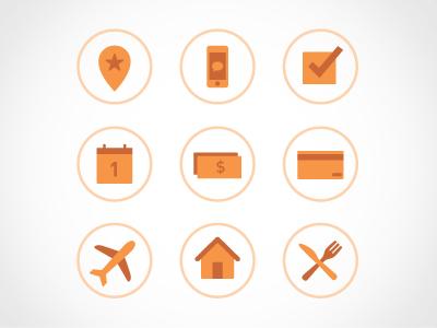 Nike Icons icons two-tone orange