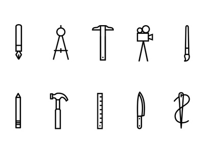 Makers Icon Set graphic design design illustration creatives iconography icons makers