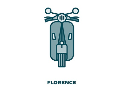 City Transportation Illustration: Florence color design graphic design icon monochrome monochromatic print illustration