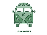 City Transportation Illustration: Los Angeles