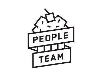 People Team Branding cupcake illustration dropbox branding logo