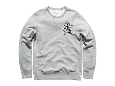 People Team Crew cupcake icon illustration branding crew sweatshirt