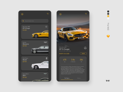 Luxury car sale app