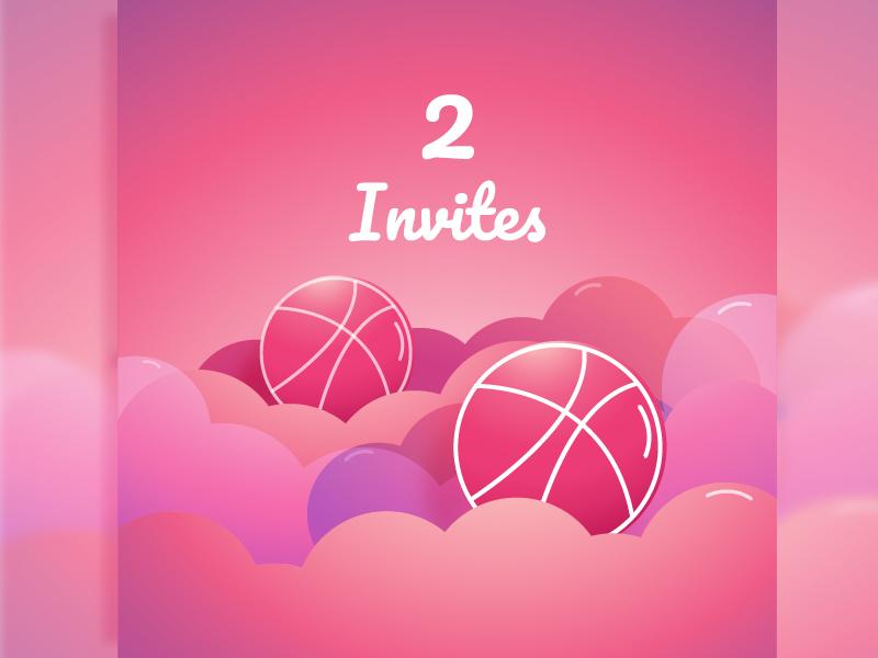 Dribbble Invite invitation cloud invites 2x dribbble