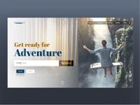 Travelling website landing page