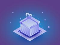 Isometric gift box