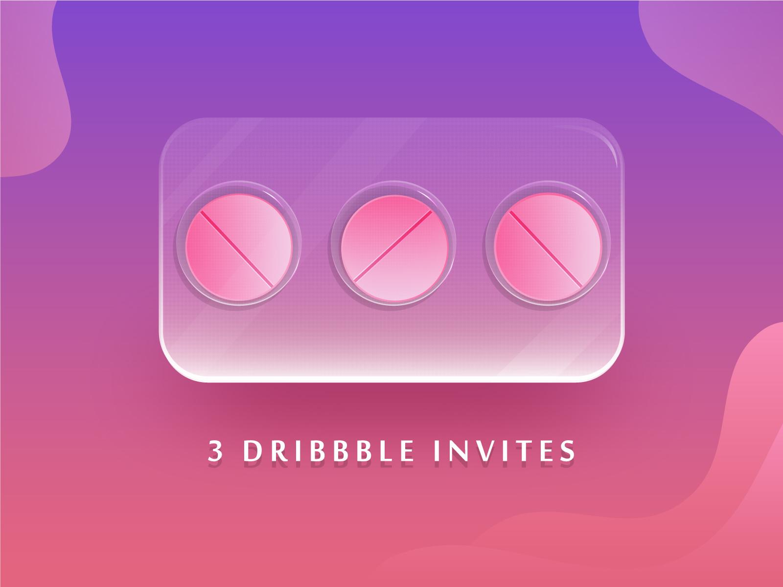 3 dribbble invites 4x