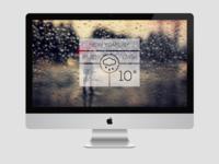 Minimal Weather Widget (Rainy Version)