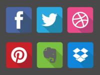 Famous Flat Logos
