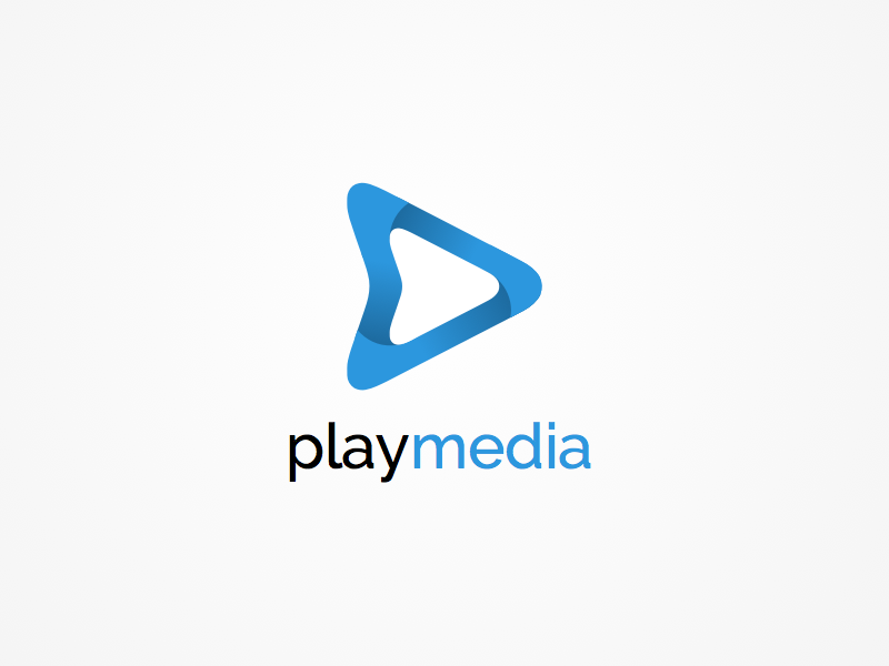 Playmedia identity identity logo graphic play video brand triangle