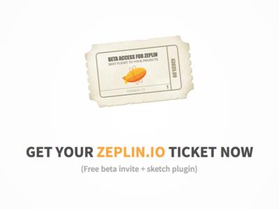Free Zeplin.io beta invite