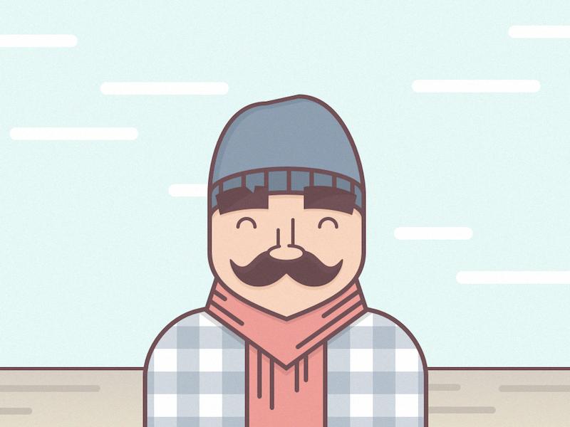 Hipster Avatar avatar illustration sketch 3 hipster