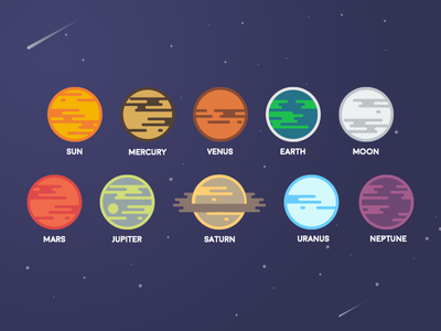 Planets sketch graphic design illustration space solar system planets
