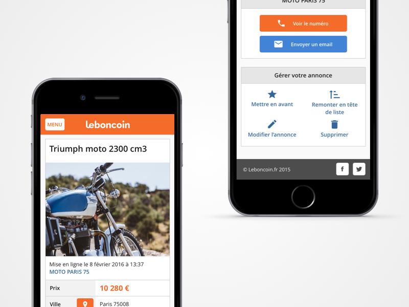 leboncoin 2016 ui sketch web adview mobile leboncoin responsive redesign
