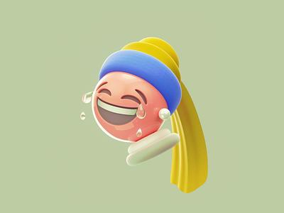 Emoji with a Pearl Earrin