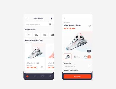 Shoes Store App Design