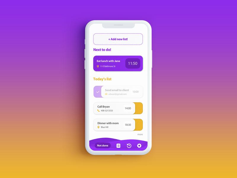 Dailyui 042 Todolist app mobile design ui dailyui
