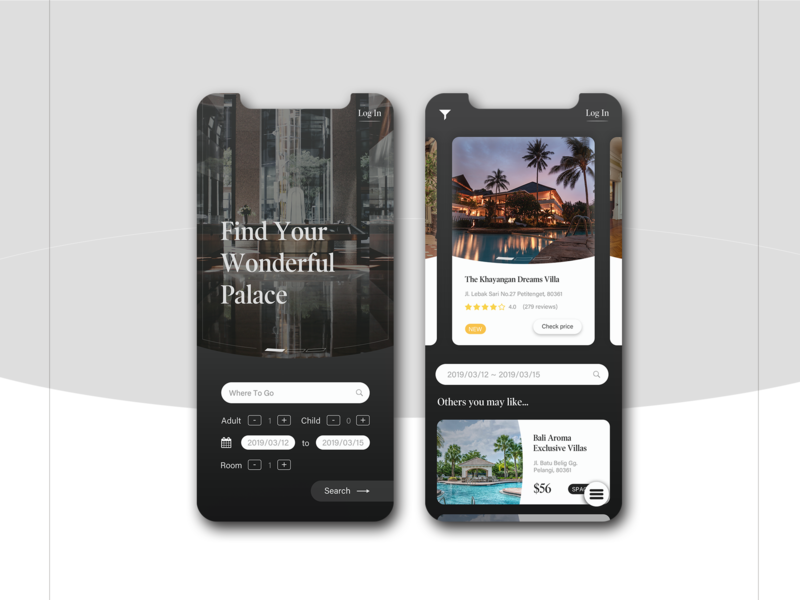 Dailyui 067 Hotel Booking design mobile ui dailyui