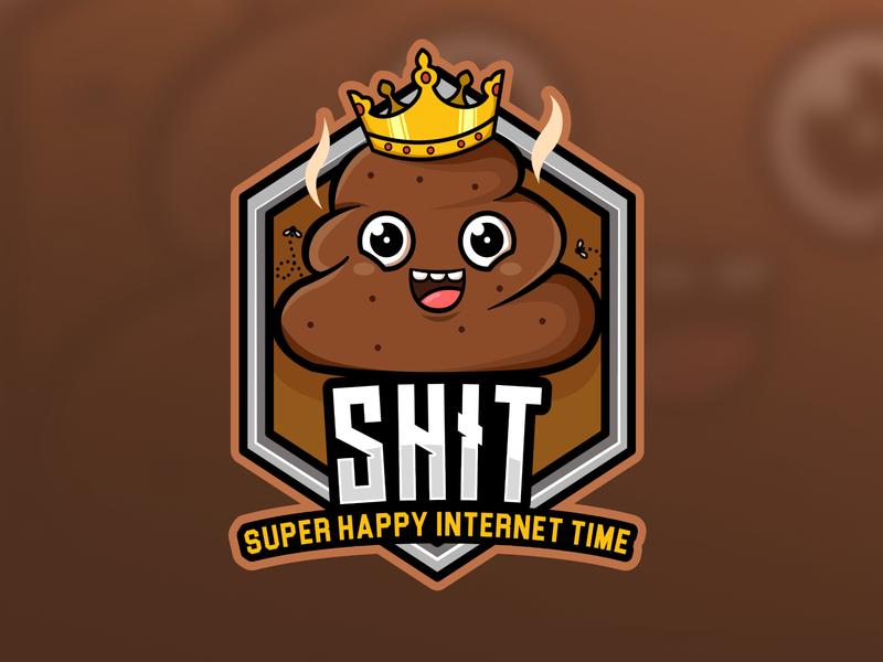 "Discord Logo ""SHIT"" esportlogo esport logo logo toons cutelogo animal logo cartoon logo mascotlogo logogram commision work logo"