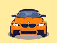 Car flat design illustration