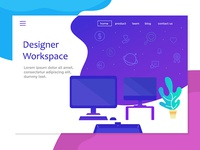 Landing Page With Designer Workspace