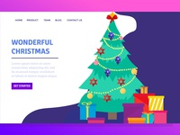 Landing Page With Wonderfull Christmas
