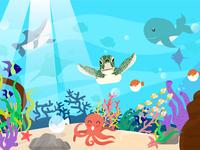 underwater sea animal