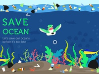 Save Ocean Illustration