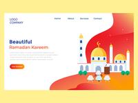 Beautiful ramadan kareem landing page