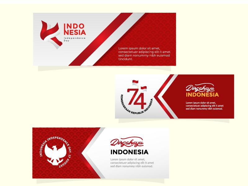 Dirgahayu Indonesia web design vector ui graphic design illustration web banner nkri republik indonesia independence day kemerdekaan dirgahayu independenceday