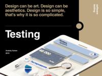3d illustration for software testing