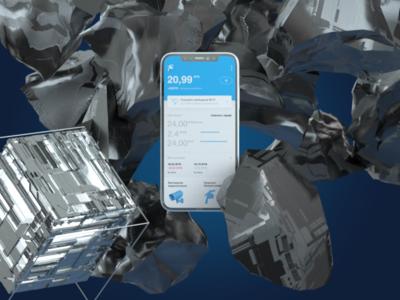 Telecom concept mobile UI