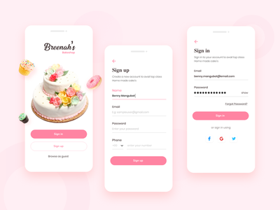 Daily UI #1 - Sign Up ux uiux ui signup login daily ui challenge daily ui 001 dailyui app design app